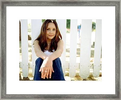 64 Celebrity Amanda Bynes  Framed Print