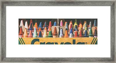 64 Colors Framed Print
