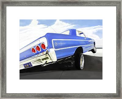 64 Impala Lowrider Framed Print by Colin Tresadern