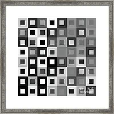 64 Shades Of Grey - 1 - Has Small White Framed Print by Ron Brown