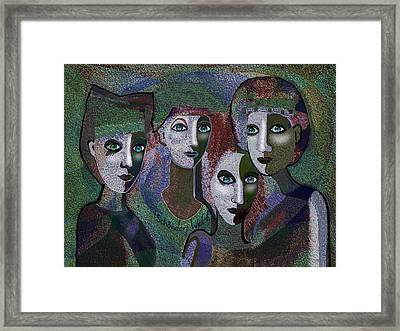 Framed Print featuring the digital art 649 - Gauntly Ladies by Irmgard Schoendorf Welch