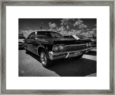 '65 Impala 001 Bw Framed Print