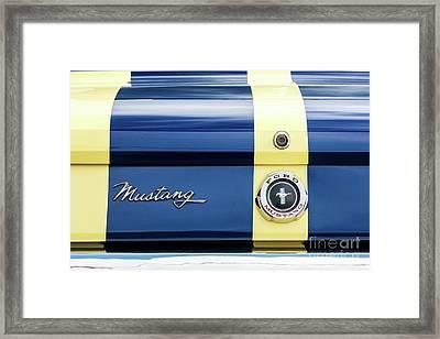 65 Mustang Rear Framed Print