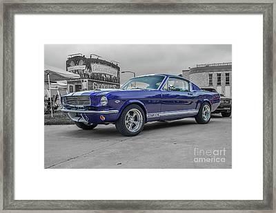 65' Mustang Framed Print