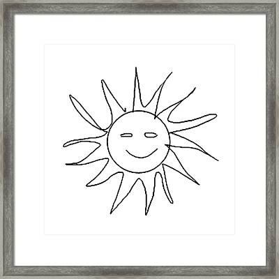 6.57.hungary-6-detail-sun-with-smile Framed Print
