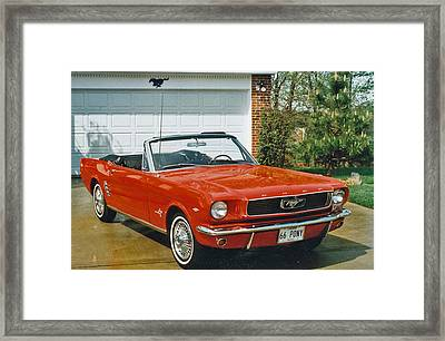 66 Mustang Convertable Framed Print
