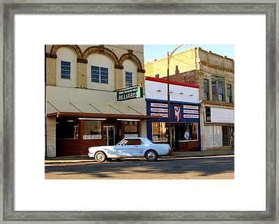 66 Mustang Down Town Framed Print by Danny Jones