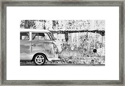 66 Splitty Monochrome Framed Print