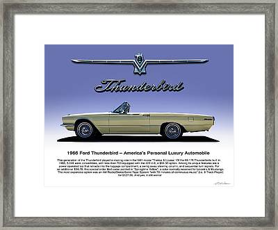 Framed Print featuring the digital art 66 T-bird Display Piece by Douglas Pittman
