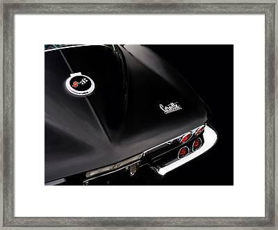 67 Corvette In Black Framed Print by Mark Rogan