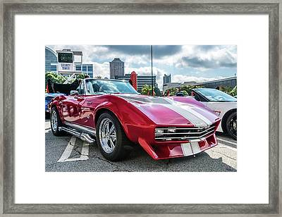 Framed Print featuring the photograph 67 Mako Shark Corvette Stingray by Michael Sussman
