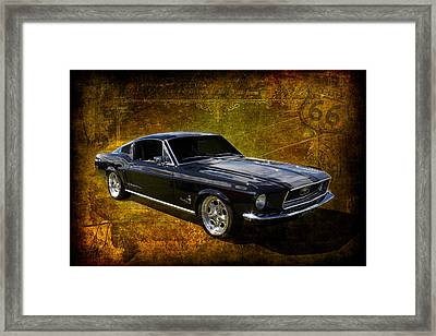 68 Fastback Framed Print