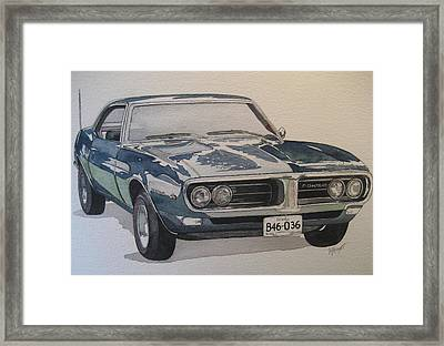 68 Firebird Sprint Framed Print by Victoria Heryet