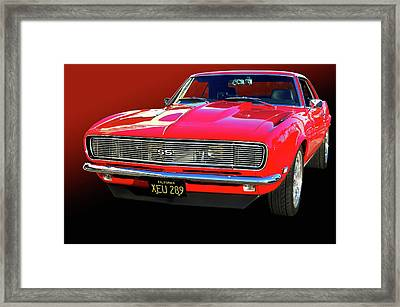 68 Ss Camaro Framed Print by Bill Dutting
