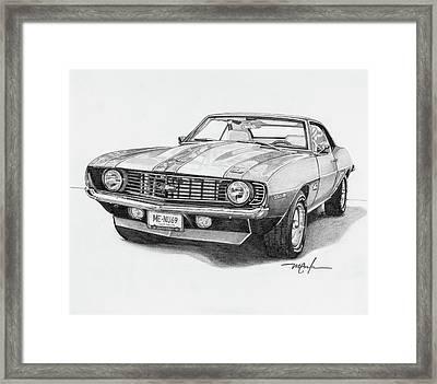 69 Camaro Framed Print