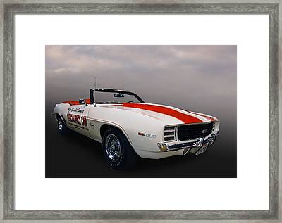 69 Camaro Pace Framed Print by Bill Dutting