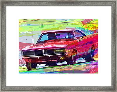 69 Dodge Charger  Framed Print by David Lloyd Glover