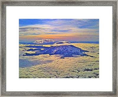 Framed Print featuring the photograph #69 Mt Rainier Sunrise by Jack Moskovita