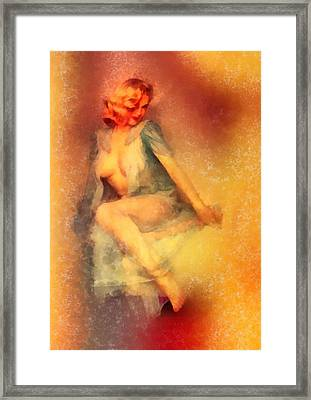 Vintage Pinup Framed Print by Frank Falcon