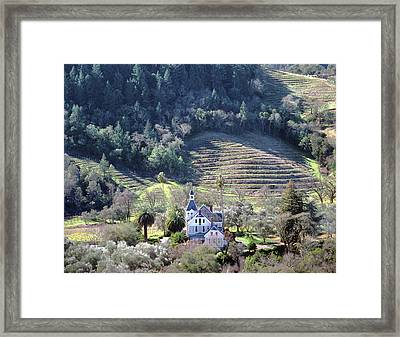 6b6312 Falcon Crest Winery Grounds Framed Print by Ed Cooper Photography