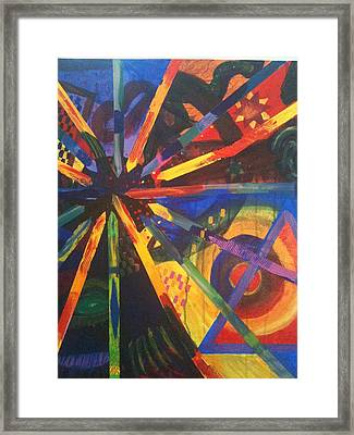 Today I Feeling Abstract Framed Print by Kaayla Halen