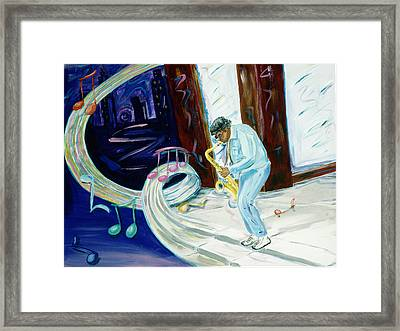 Framed Print featuring the painting 6th Avenue Blues by Kevin Callahan