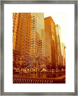 6th Avenue In Mahattan Framed Print