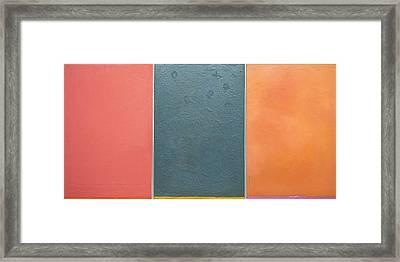 Triptic Oil On Canvas 24x36 Framed Print