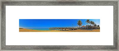 6x1 Venice Florida Beach Pier Framed Print