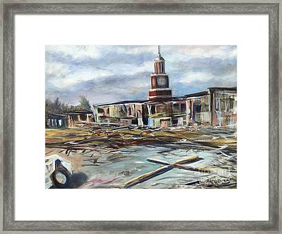 Union University Jackson Tennessee 7 02 P M Framed Print by Randy Burns