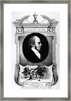 Aaron Burr (1756-1836) Framed Print