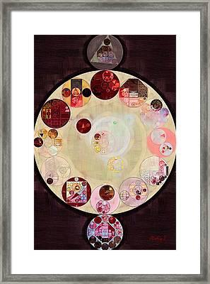 Abstract Painting - Seal Brown Framed Print by Vitaliy Gladkiy