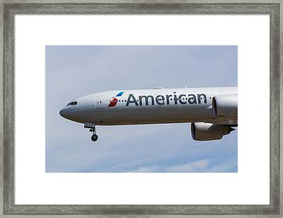 American Airlines Boeing 777 Framed Print