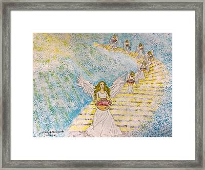 7 Angels And The 7 Bowls Of Wrath Framed Print