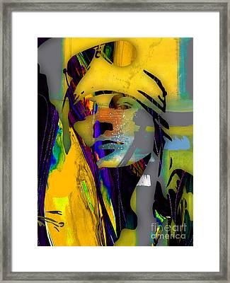 Axl Rose Collection Framed Print by Marvin Blaine