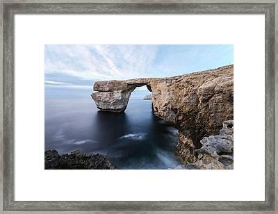 Azure Window - Gozo Framed Print