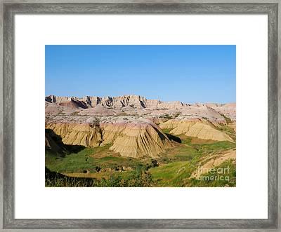 Badlands National Park South Dakota Framed Print by Louise Heusinkveld
