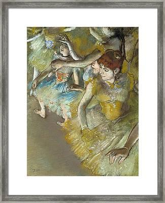Ballet Dancers On The Stage Framed Print by Edgar Degas