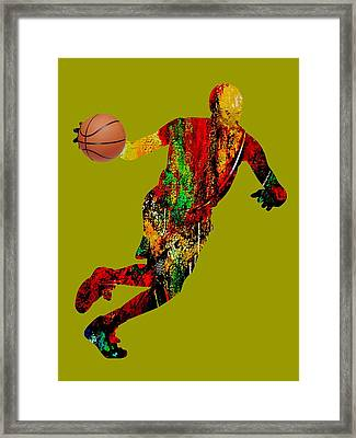 Basketball Collection Framed Print by Marvin Blaine