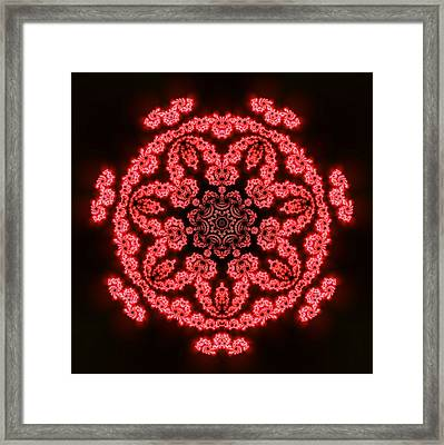 Framed Print featuring the digital art 7 Beats Fractal by Robert Thalmeier