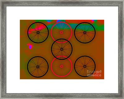 Bicycle Wheel Collection Framed Print
