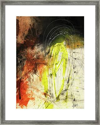Bold Earth Tone Abstract Painting Framed Print by Michel Keck
