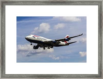 British Airways Boeing 747 Framed Print