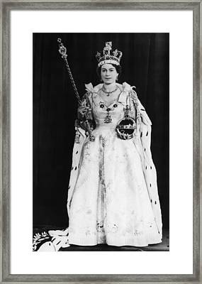 British Royalty. Queen Elizabeth II Framed Print by Everett