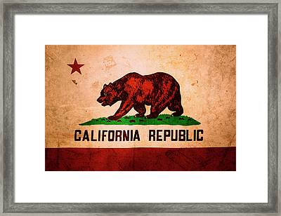 California Flag Framed Print by Les Cunliffe