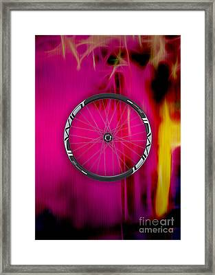 Carbon Fiber Bicycle Wheel Collection Framed Print by Marvin Blaine