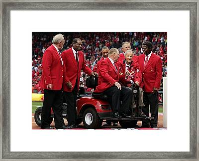 7 Cardinal Hall Of Famers Framed Print