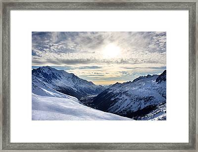 Chamonix Resort In The French Alps Framed Print