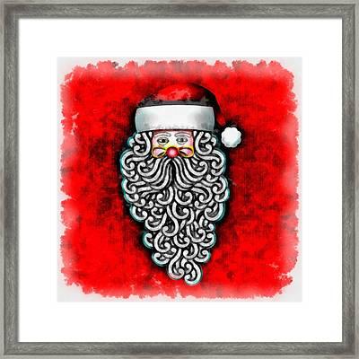 Christmas Santa Claus Framed Print by Esoterica Art Agency