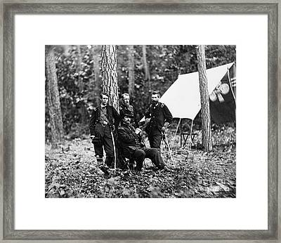 Civil War: Soldiers Framed Print by Granger